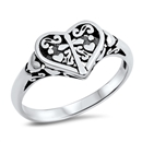 Silver Ring - Heart - $4.03