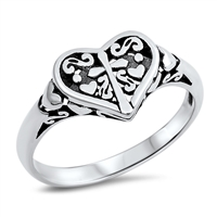 Silver Ring - Heart - $4.89