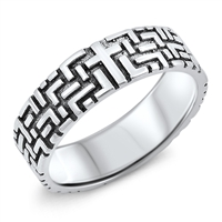 Silver Ring - Hidden Cross - $5.46