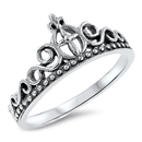 Silver Ring - Cross Crown - $3.94
