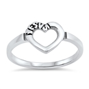 Silver Ring - Heart Engraved Jesus - $3.06