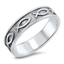 Silver Ring - Christian Fish - $4.98