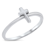 Silver Ring - Mini Cross - $2.00