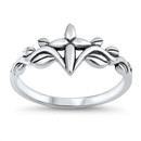 Silver Ring - Cross in Vines - $3.88