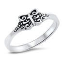 Silver Ring - Medieval Cross - $3.70