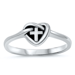 Silver Ring - Wrapped Cross - $3.69