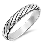 Silver Ring - Rope Band - $5.64
