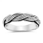 Silver Ring - Braided Band - $6.88