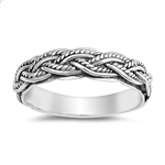 Silver Ring - Multi Braided Band - $6.75