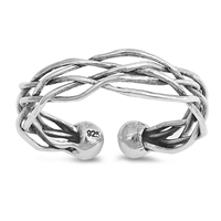 Silver Ring - Wire Braid - $4.25