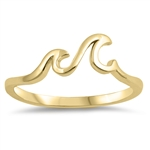 Silver Ring - Little Waves - $2.99