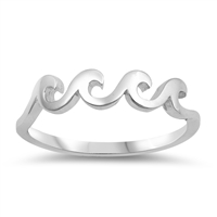 Silver Ring - Four Waves - $2.80