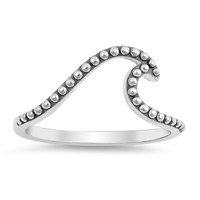 Silver Ring - Bali Wave - $2.79