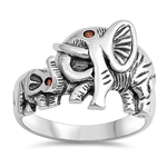 Silver Ring - Elephants - $9.95
