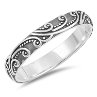 Silver Ring - Filigree Band - $4.15