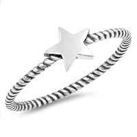 Silver Ring - Star Rope Band - $2.13