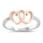 Silver Ring - Hearts - $4.08