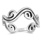 Silver Ring - Waves - $4.41