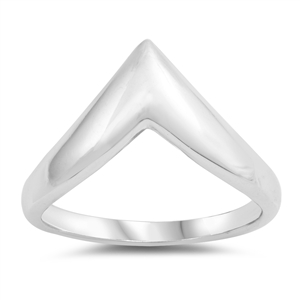 Silver Ring - V Shaped - $4.30