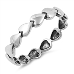 Silver Ring - Hearts - $3.89