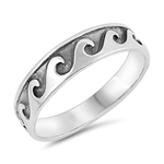 Silver Ring - Wave - $4.34