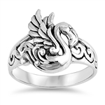 Silver Ring - Swan - $6.32