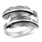 Silver Ring - Feathers - $6.12
