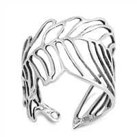 Silver Ring - Wraparound Leaf - $6.61