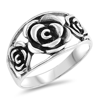 Silver Ring - Roses - $6.47