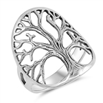 Silver Ring - Tree of life - $6.53