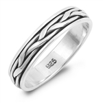 Silver Spinner Ring - Braid - $6.50