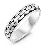 Silver Spinner Ring - Chain - $9.48