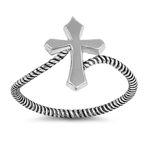 Silver Ring - Cross - $2.92