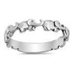 Silver Ring - Elephants - $3.16