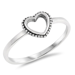 Silver Ring - Heart - $2.33