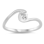 Silver Ring - Wave and Sparrow - $2.55