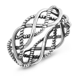 Silver Ring - Braid - $5.42
