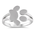 Silver Ring - Paw Print - $4.78