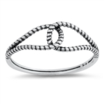 Silver Ring - Linked Rope - $2.15