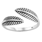 Silver Ring - Feather - $3.62