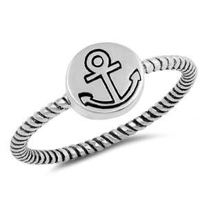 Silver Ring - Anchor - $2.69