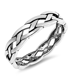 Silver Ring - Braid - $3.87