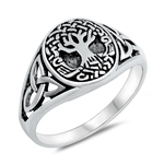 Silver Ring - Celtic Tree of Life - $5.24