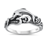 Silver Ring - Dolphin - $4.43