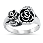 Silver Ring - Roses - $6.18