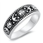 Silver Ring - Moon and Sun - $5.10