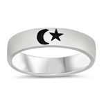 Silver Ring - Moon & Star - $5.05