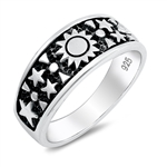Silver Ring - Sun and Stars - $5.79