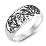 Silver Ring - Filigree Band - $4.25
