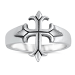 Silver Ring - Medieval Cross - $4.87